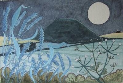 Silbury Nocturne, by John Walker