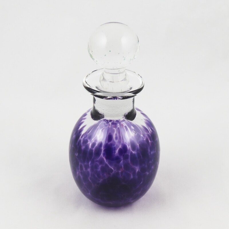 Small Purple Glass Perfume Bottle, by Sanders and Wallace