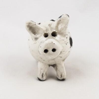 Small Raku Pig, by Rob Whelpton