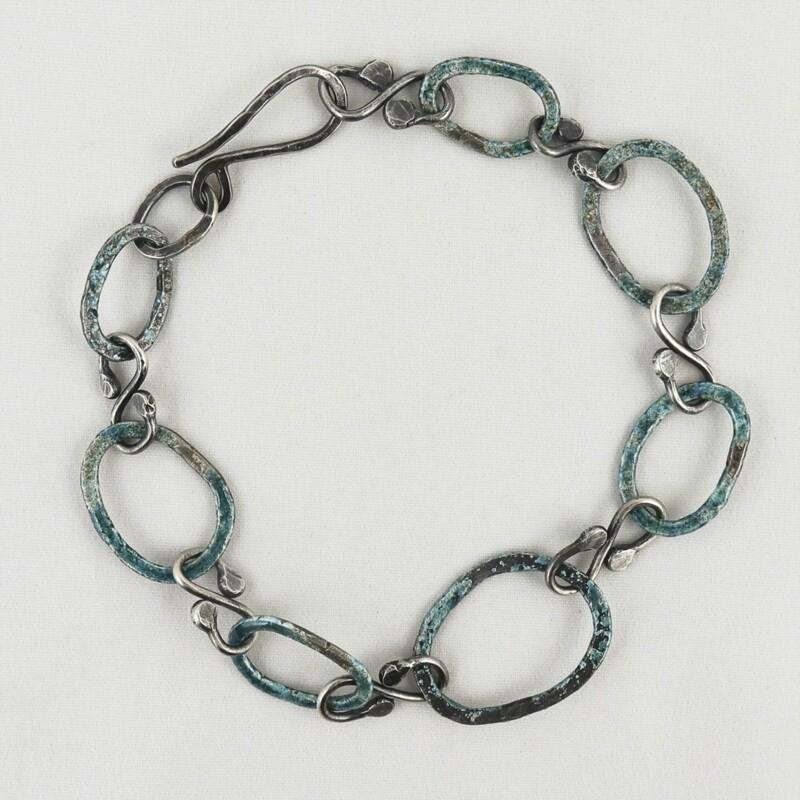 Enamelled Eco Silver Bracelet by Sarah Drew