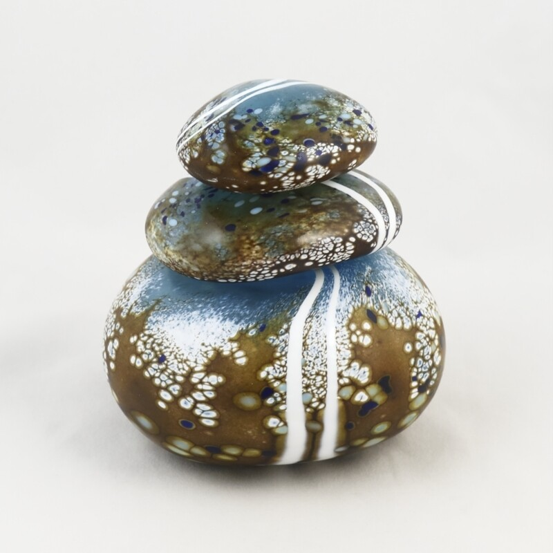 Stacked Glass Pebble Perfume Bottle, by Martin Andrews
