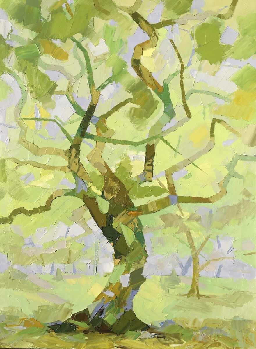 Emerald Tree, original oil by Alex Brown