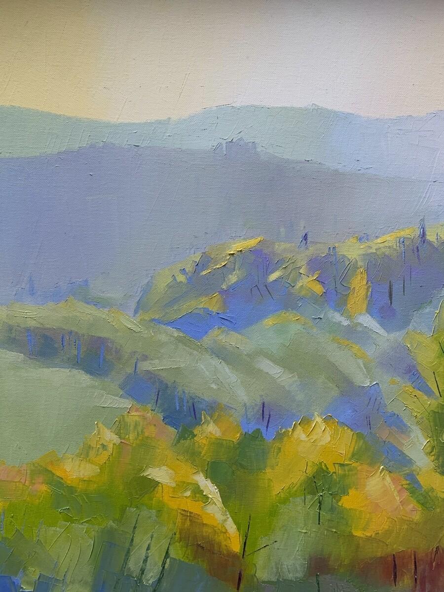 Dordogne River Valley, original oil by Alex Brown