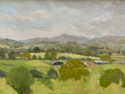 Sugar Loaf, Brecon, original oil by Alex Brown