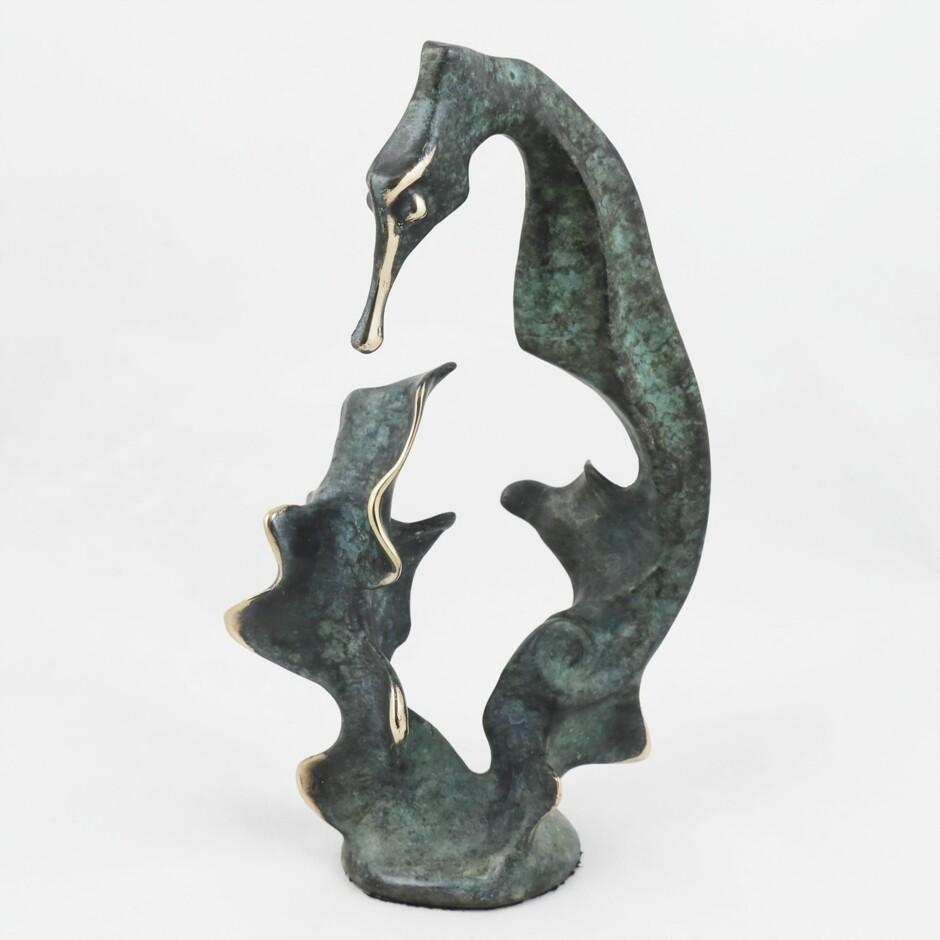 Bronze Seahorse, by Michael Storey