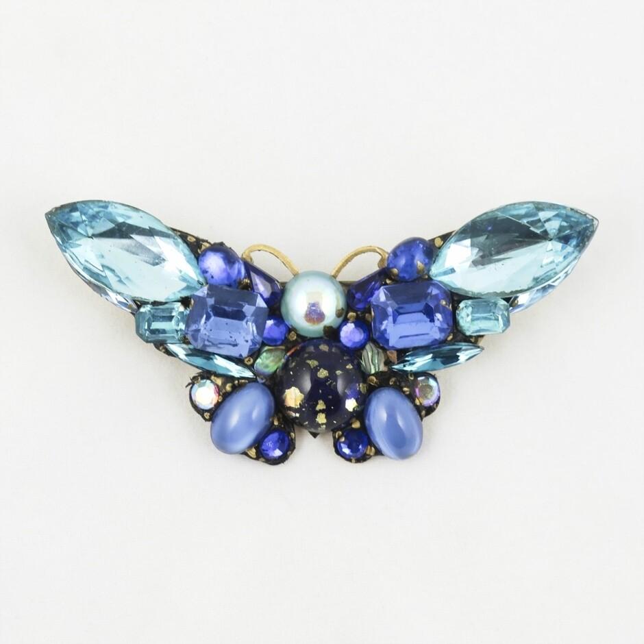 Vintage Bead Butterfly Brooch, by Annie Sherburne