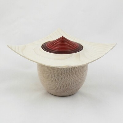 Limed Ash Wood Lidded Pot, by Kevin Hutson