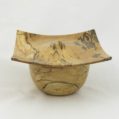 Hand Turned Ash Lidded Pot, by Kevin Hutson