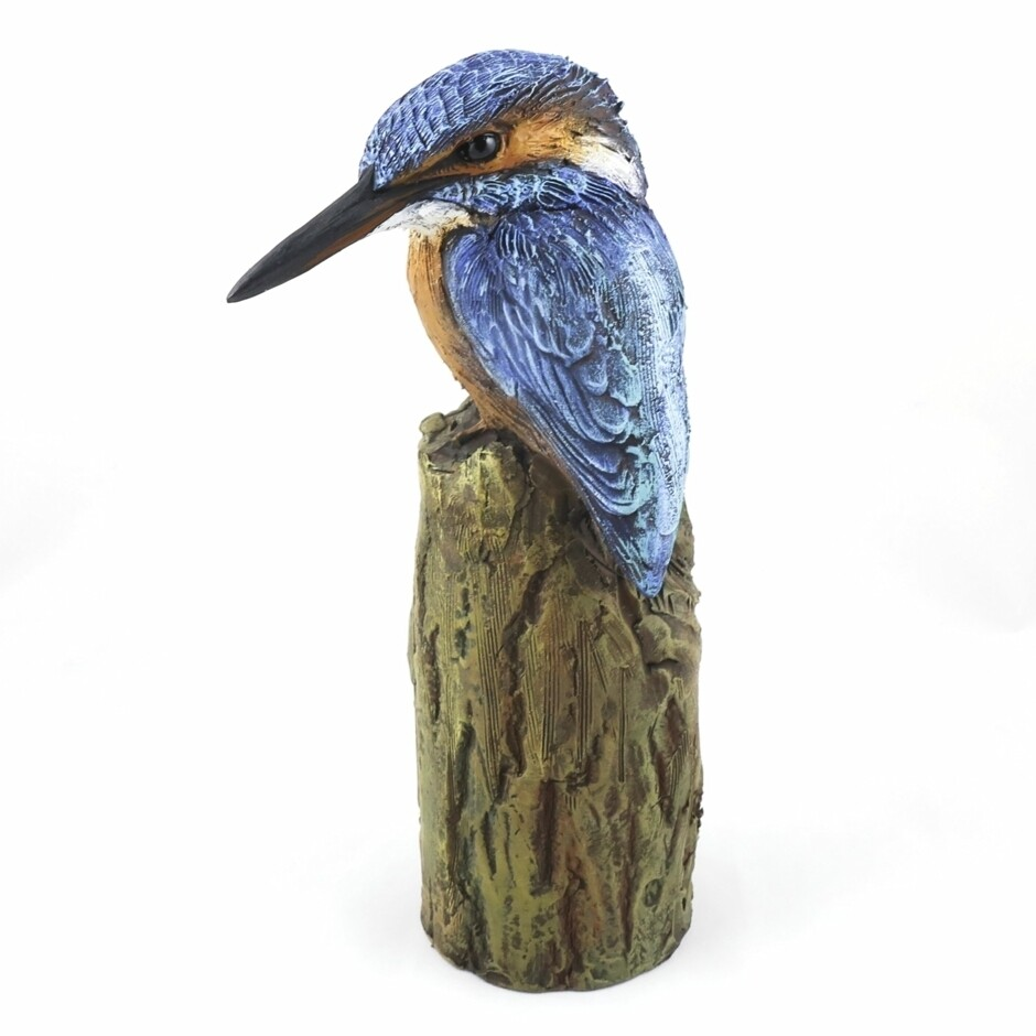 Ceramic Kingfisher Sculpture, by Karen Fawcett