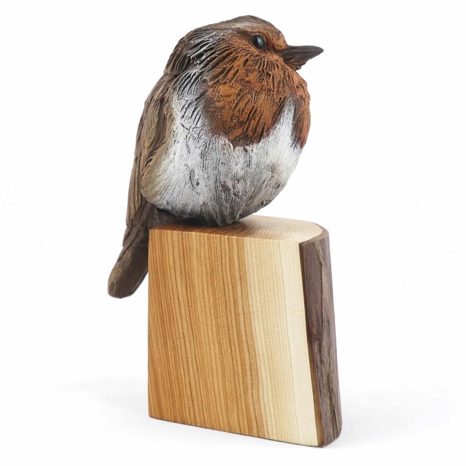 Ceramic Robin on Post, by Karen Fawcett