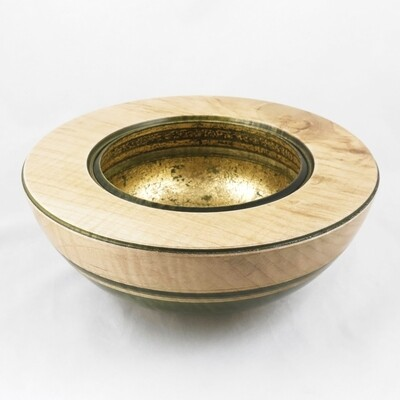 Hand Turned Wooden Bowl with Cherries, by Dennis Hales