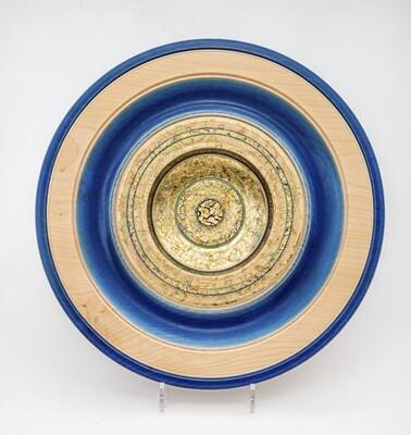 Large Blue & Gilt Dish,  by Dennis Hales