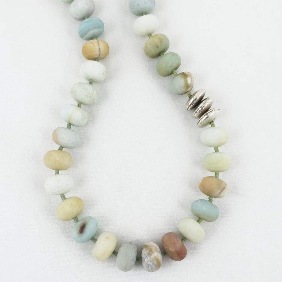 Amazonite Rondel Necklace by Melissa James