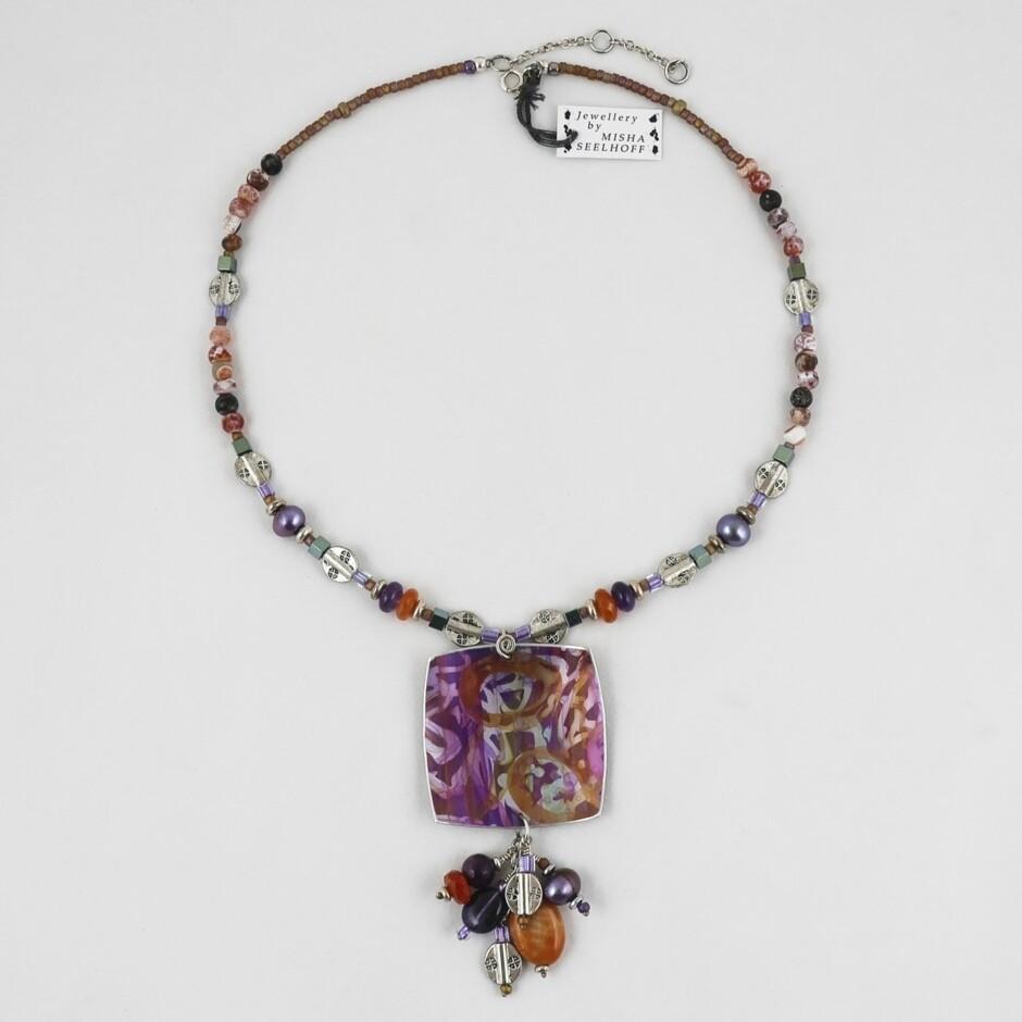 Bead & Aluminium Necklace by Misha Seelhoff