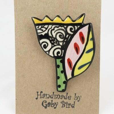 Ceramic Brooch by Gaby Bird
