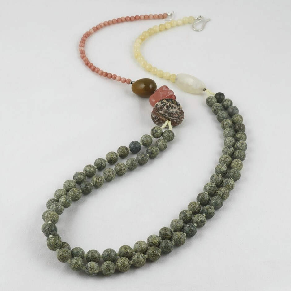 Mixed bead long Necklace by Melissa James