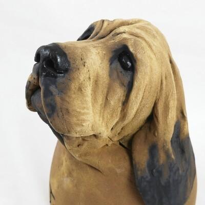 Bloodhound Treat Jar, by Adrian Guest