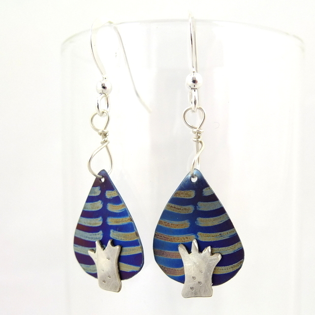 Silver and Titanium Earrings, by Jill Stewart