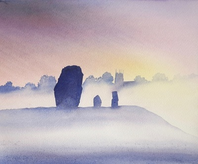 Avebury Evening, by Ian Scott Massie