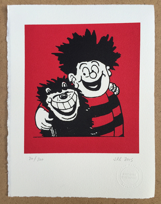 Dennis the Menace and Gnasher Hug, by John Patrick Reynolds