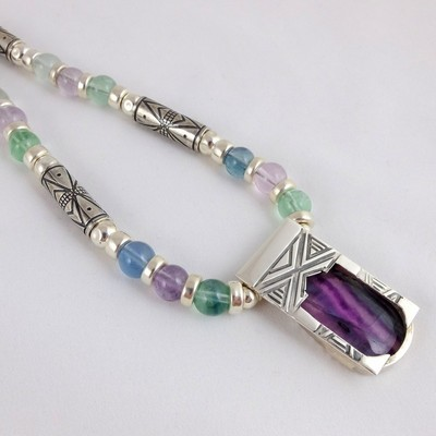 Flourite and Etched Silver
