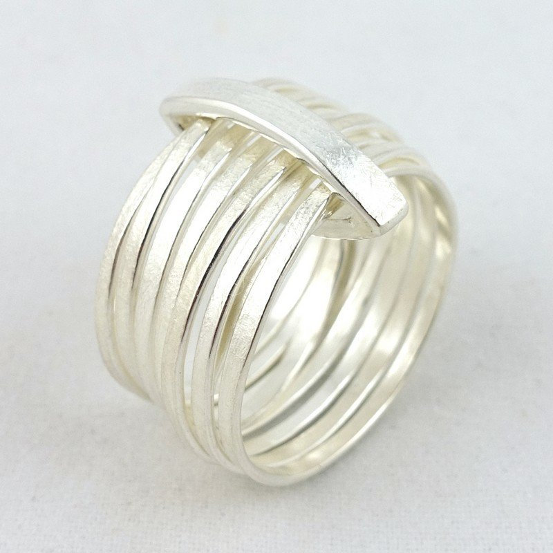 Loco Multiband Silver Ring, by Latham & Neve