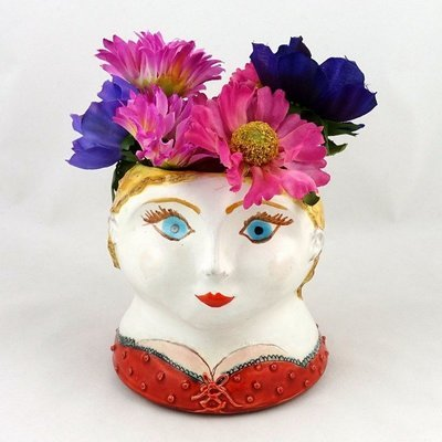 Flower Face Vase, by Stacey Manser Knight