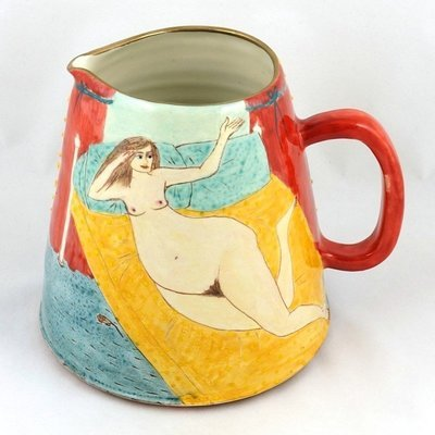 Large Jug with Reclining Nude, by Stacey Manser Knight