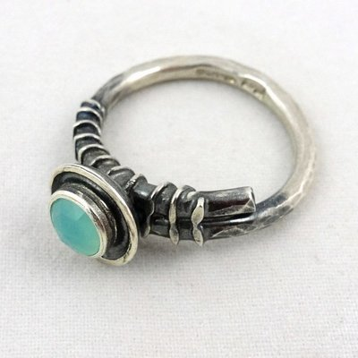 Dark Silver Ring with Amazonite, by Adele Taylor