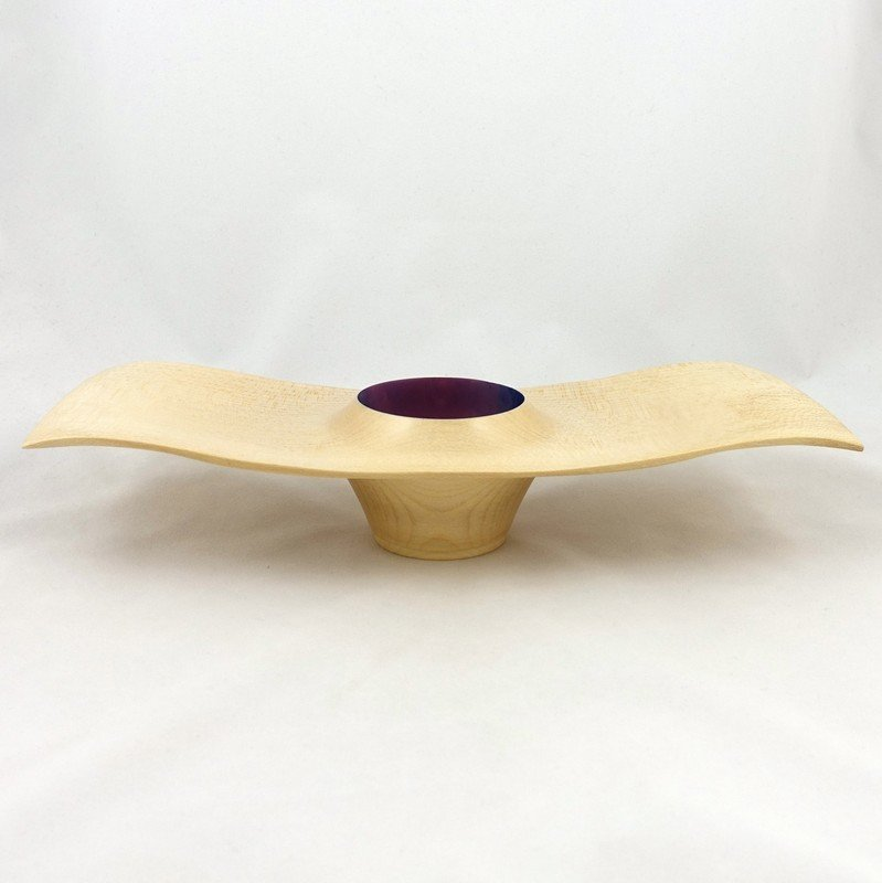 Hand Turned Ash Wood Wave Edge Bowl, by Kevin Hutson