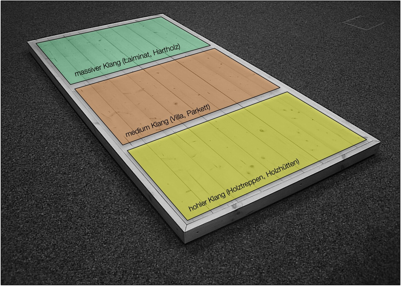 Wooden Floor - Three different sound zones