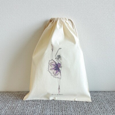 Lilac Fairy Cotton Purse