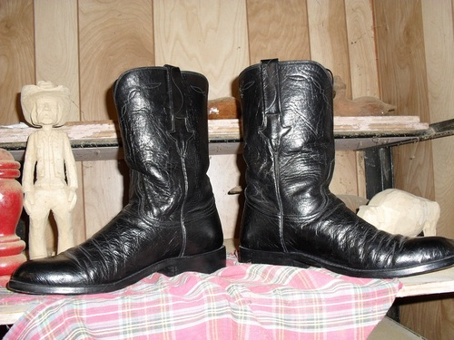 Vintage Lucchese boots that slipped past Clint Eastwood!!
