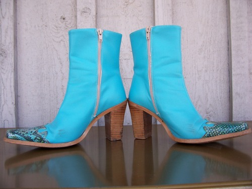 Racy little faux cowgirl boots!!