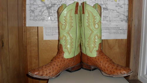 We are totally out of our minds over these full quill ostrich Rod Patrick boots!