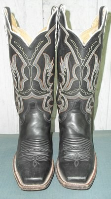 Justin Black Italian Pull-up Boots...Can You Say