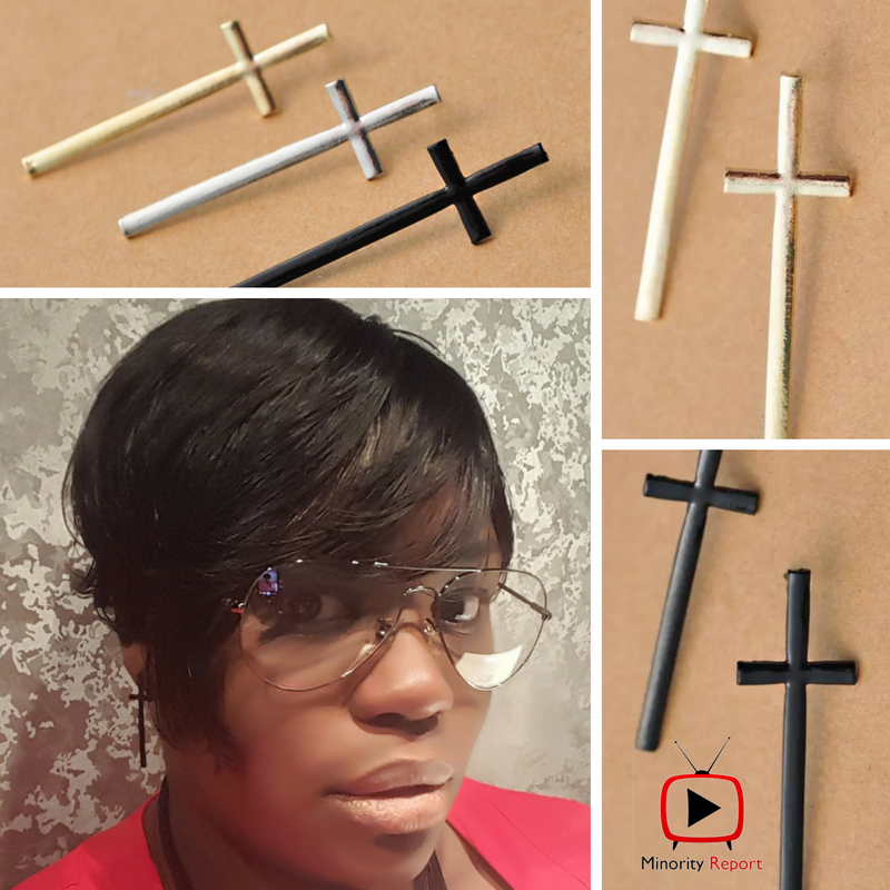 Fashion Cross Studs Earrings