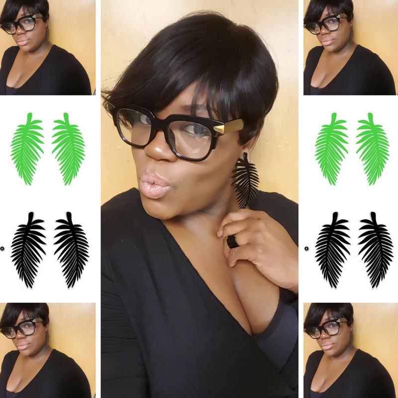 Palm Springs Acrylic Leaf Earrings