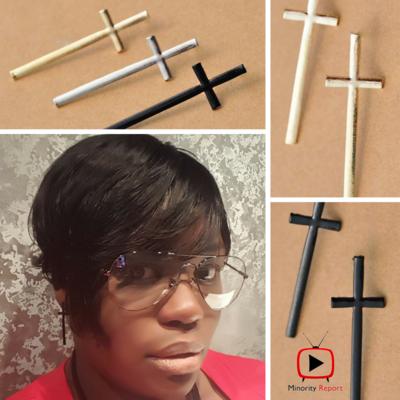 Fashion Cross Studs Earrings