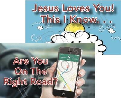 The Right Road + Jesus Loves You Tracts