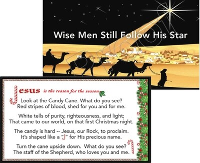 Wise Men Still Follow His Star & Candy Cane Tracts