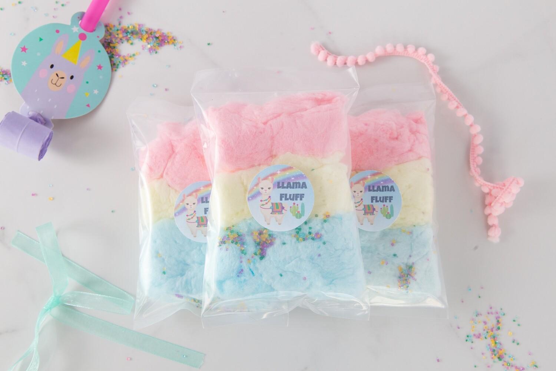 Llama Fluff | Llama Themed Cotton Candy Party Favors
