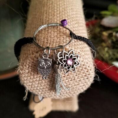 Braided Bracelet with Owl