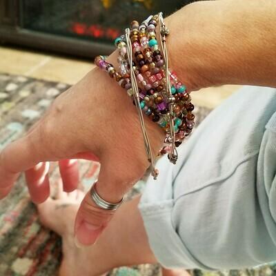 Gypsy Beaded Bracelet and Bangles Set