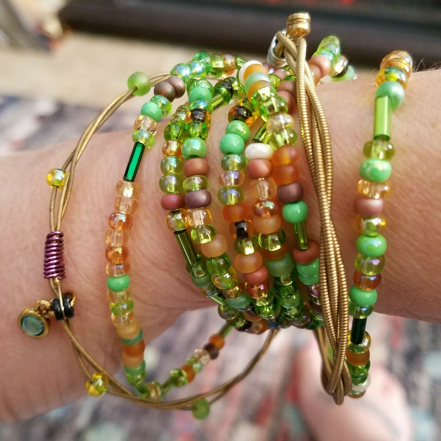 Gypsy Beaded Bracelet and Bangles Set