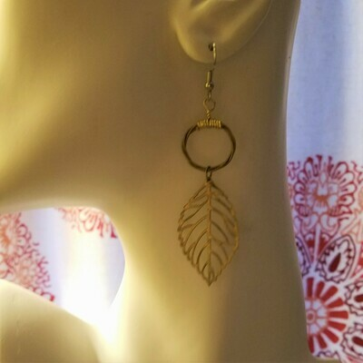 Etched Leaf Brass Halos