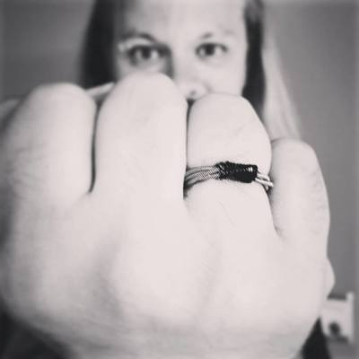 Guitar String Ring-size and color made to order