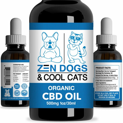 Zen Dogs & Cool Cats Organic CBD Oil 500MG