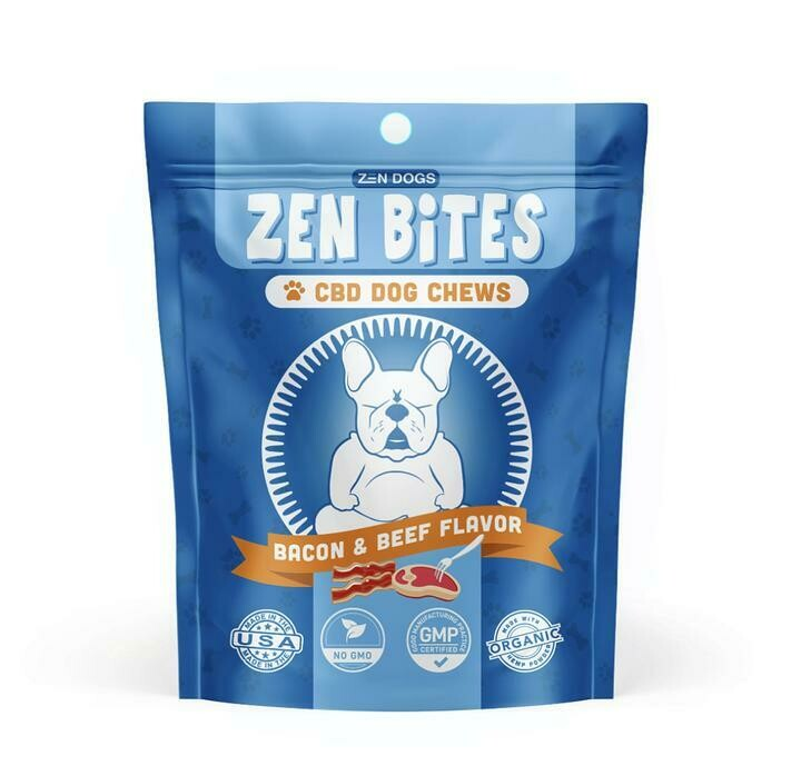 Zen Dogs & Cool Cats Zen Bites Bacon & Beef Flavor CBD Chews