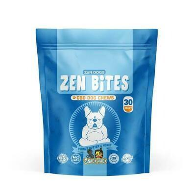 Zen Dogs & Cool Cats Zen Bites Honey and Peanut Butter CBD Chews